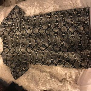 Zara Serpentine dress snake skin texture
